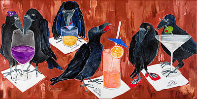 Painting - Cocktails At The Crow Bar by Georgia Donovan