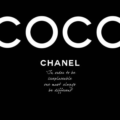Chanel Wall Art - Digital Art - Coco Chanel Irreplaceable Quote by Tres Chic