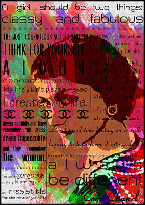 Famous People Digital Art - Coco Chanel Inspirational Motivational Independent Quotes 3 - By  Diana Van by Diana Van