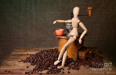 Coffee Break Art Print by Nailia Schwarz