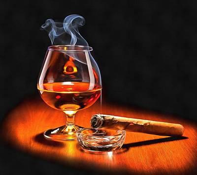 Cognac Art Painting - Cognac by Vadim Pavlov