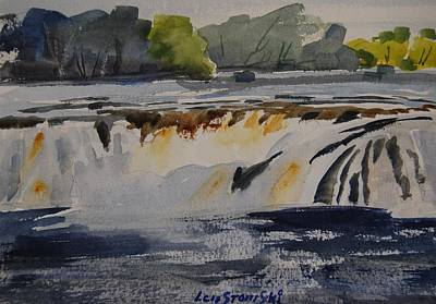 Painting - Cohoes Falls Study 2 by Len Stomski
