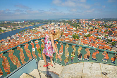 Photograph - Coimbra Panorama Woman by Benny Marty