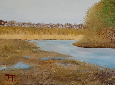 Bottomlands Painting - Colfax Wildlife Area by Troy Thomas