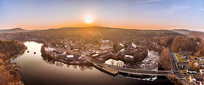 Photograph - Colinsville, Connecticut Sunrise Panorama by Petr Hejl