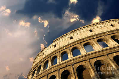 Coliseum. Rome. Lazio. Italy. Europe Art Print by Bernard Jaubert