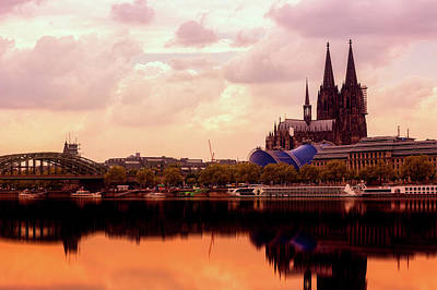 Photograph - Cologne Cathedral At Sunset by Pickupyourphoto
