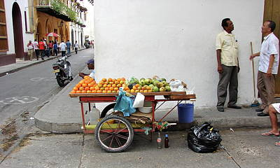 Photograph - Colombia Fruit Cart by Brett Winn