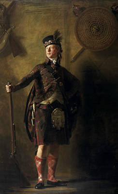Colonel Alastair Ranaldson Macdonell Of Glengarry  Art Print by Henry Raeburn