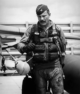 Handlebar Photograph - Colonel Robin Olds by War Is Hell Store