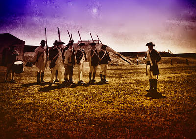 Redcoat Digital Art - Colonial Soldiers At Fort Mifflin by Bill Cannon