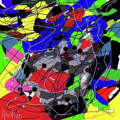 Digital Art - Color Abstraction-1 by Anand Swaroop Manchiraju