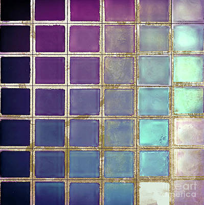 Chips Painting - Color Chart Teal by Mindy Sommers