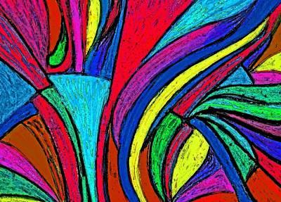 Color Flow Art Print by Cassandra Donnelly