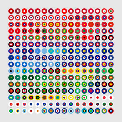 Proportions Digital Art - Color Proportions In Country Flags  by Martin Krzywinski