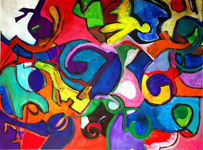 Color Shape Study Art Print by Jame Hayes