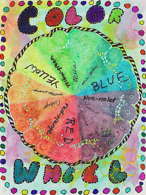 Mixed Media - Color Wheel by Dawn Boswell Burke