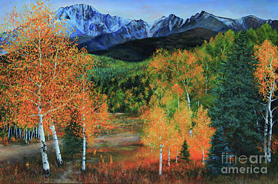 Painting - Colorado Aspens by Jeanette French