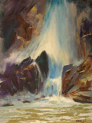 Painting - Colorado Falls by David Garrison