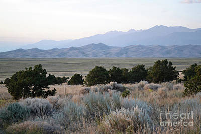 Photograph - Colorado Great Sand Dunes Mountain Landscape by Andrea Hazel Ihlefeld