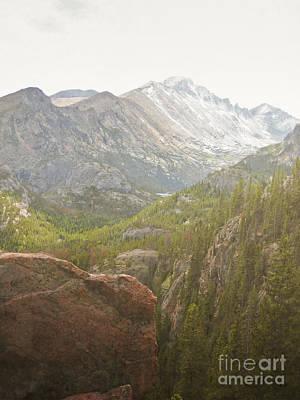 Colorado Longs Peak Mountain Landscape Art Print by Andrea Hazel Ihlefeld