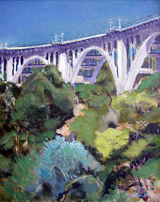 Colorado Street Bridge Art Print by Richard  Willson