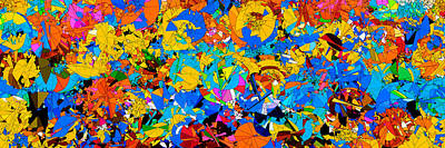 Indefinite Painting - Colorful Abstract Mural by Bruce Nutting