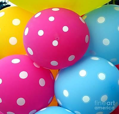 Photograph - Colorful Balloons Make A Happy Mood by Yali Shi