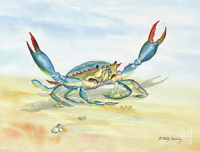 Painting - Colorful Blue Crab by Melly Terpening