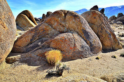 Photograph - Colorful Boulders In The Alabama Hills by Ray Mathis