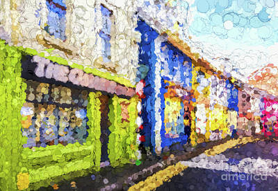 Digital Art - Colorful Buildings  by Les Palenik