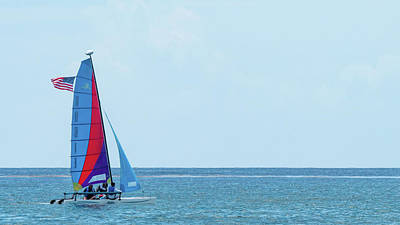 Photograph - Colorful Catamaran 4 Delray Beach Florida by Lawrence S Richardson Jr