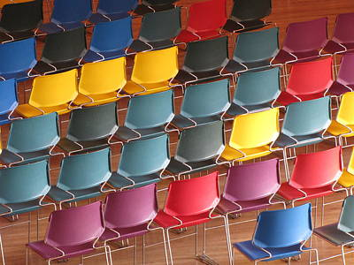 Colorful Chairs Art Print