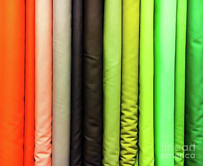 Colorful Fabrics Selection Art Print