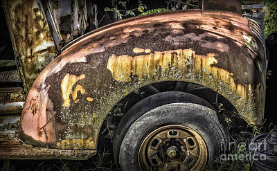 Photograph - Colorful Rusty Old Fender by Walt Foegelle