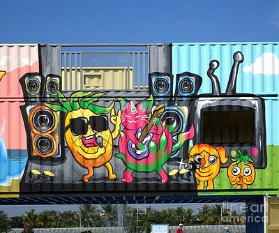 Photograph - Colorful Graffiti Images In Taiwan by Yali Shi