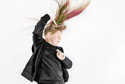 Photograph - Colorful Hair by Peter Lakomy