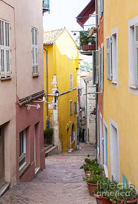 Photograph - Colorful Old Street In Villefranche-sur-mer by Elena Elisseeva