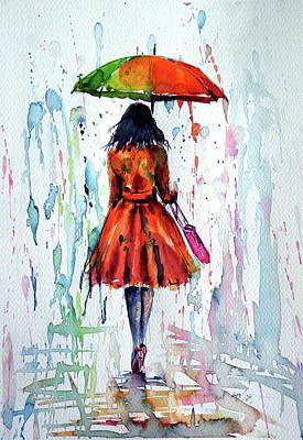Colorful Rain Art Print