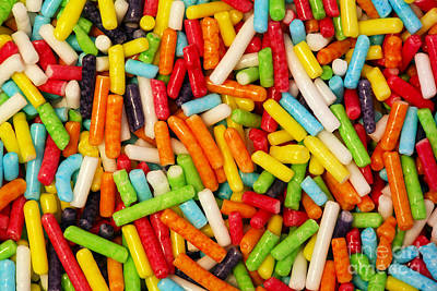 Snacks Photograph - Colorful Small Sweet Sugar Sticks Decoration Close-up Background by Michal Bednarek