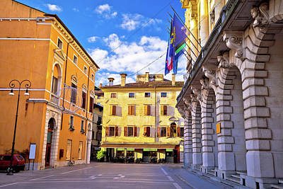 Photograph - Colorful Street In Udine Landmarks View by Brch Photography