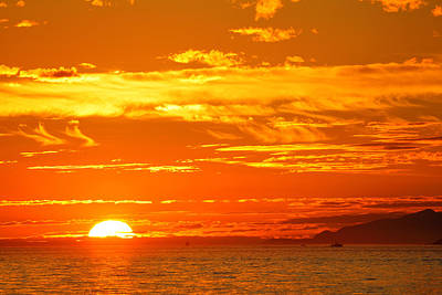 Photograph - Colorful Sunset by Songquan Deng