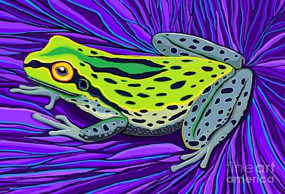Digital Art - Colorful Tree Frog  by Nick Gustafson