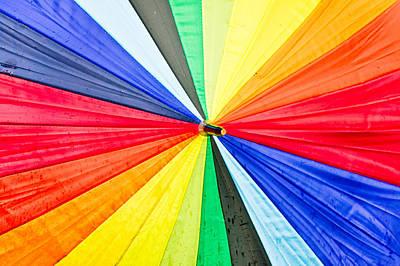 Colorful Umbrella Art Print by Tom Gowanlock