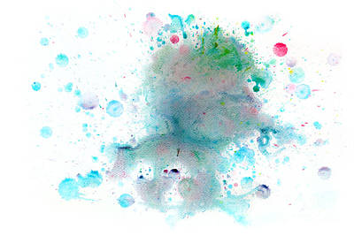 Drawing Photograph - Colorful Watercolor Paint On White Canvas. Super High Resolution And Quality by Michal Bednarek