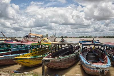 Photograph - Colorful Wooden Boats In Paramaribo by Patricia Hofmeester