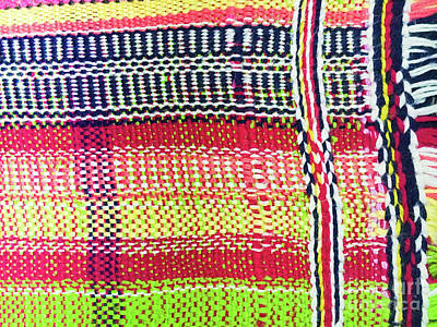 Colorful Woven Rug Art Print by Tom Gowanlock