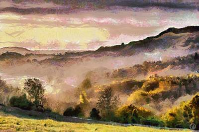 Fog Mist Digital Art - Colors Of Autumn by Gun Legler