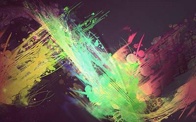 Fractal Digital Art - Colors by Super Lovely