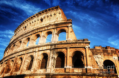 Photograph - Colosseum In Rome by Michal Bednarek